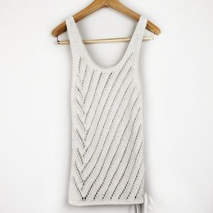 Calvin Klein cream crochet sweater tank top Small